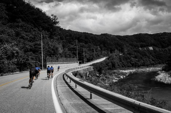 100miler annual road ride organised by Watts Cycling, from Uijeongbu - Sokcho, South Korea