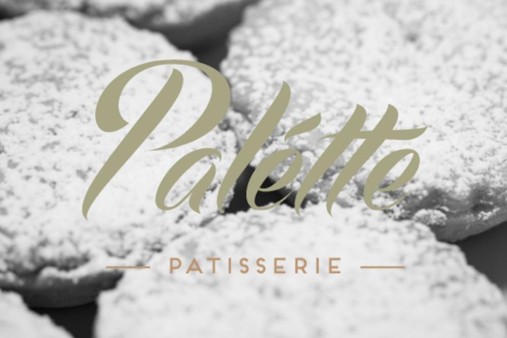 Palette Mince Pies b & w front logo