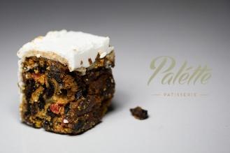 Palette Patisserie Christmas Cake Logo